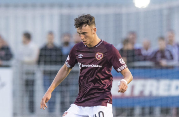 Andrew Irving in action for Hearts