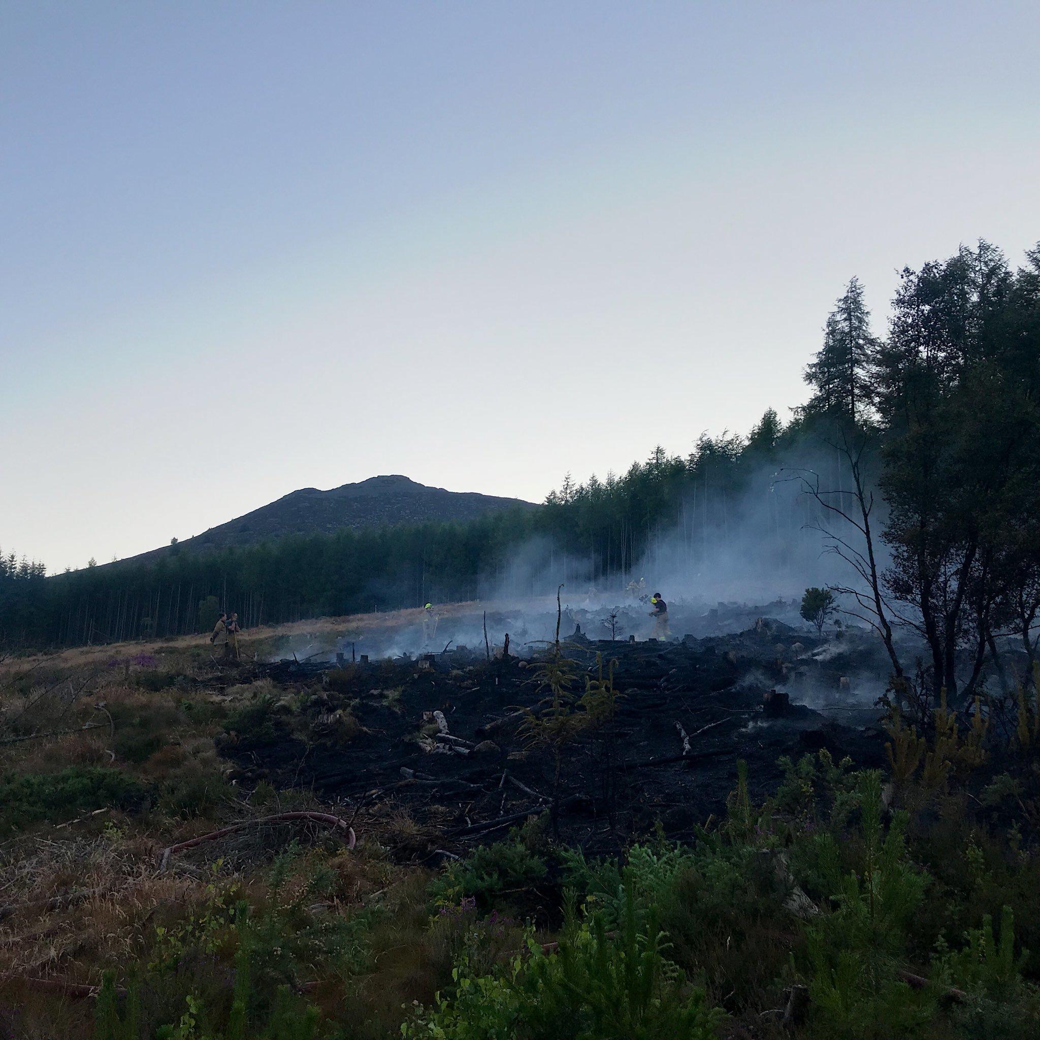 Scottish Fire and Rescue Service battled the wildfire at Bennachie. Picture via David Meldrum @d_meldrum on Twitter.