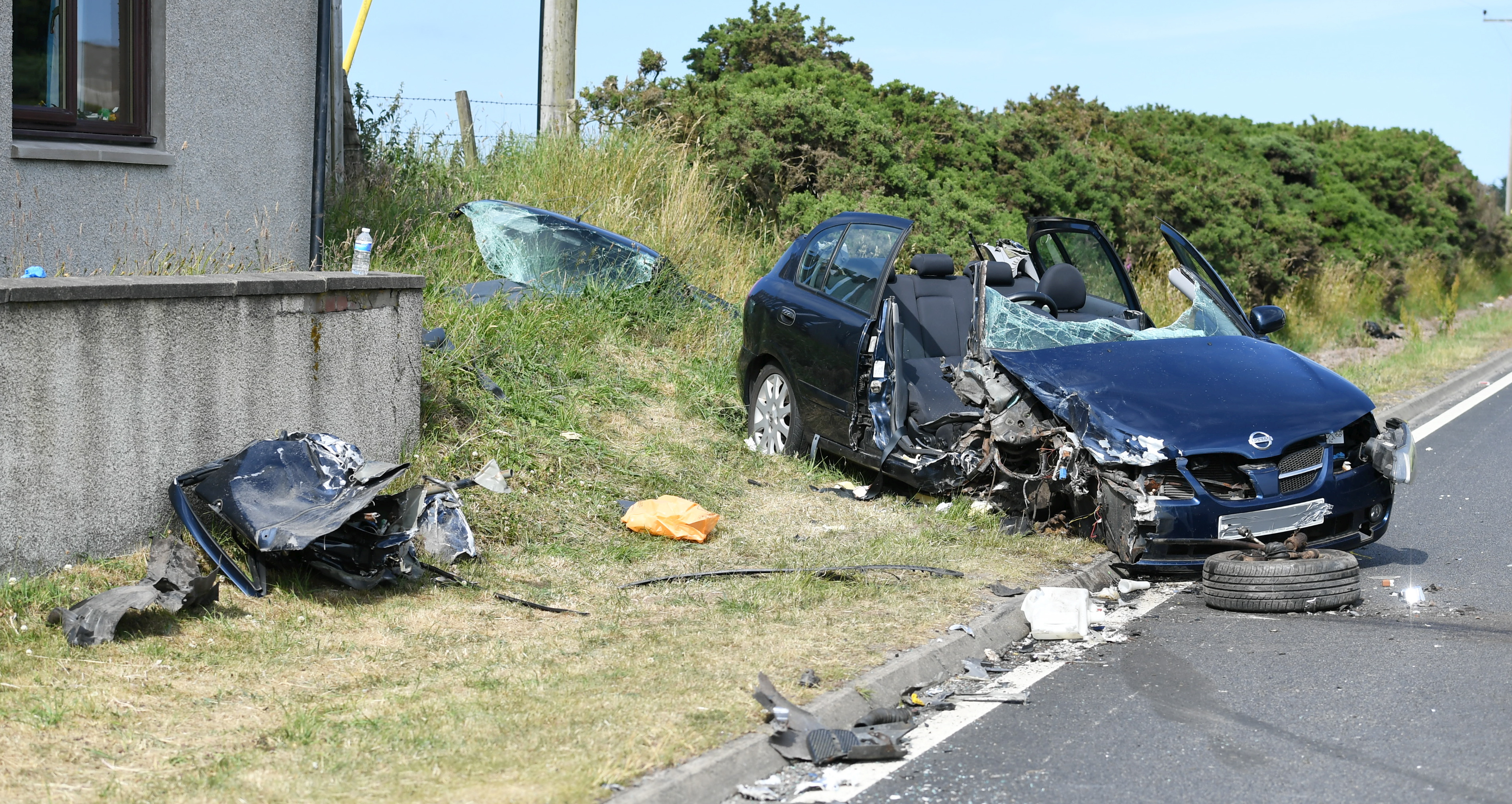 The crash on the A90 south of Hatton