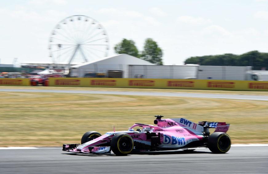 Formula 1 British Grand Prix 2018  Silverstones Force India's Sergio Perez.