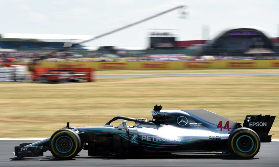 Practice 3- Mercedes' Lewis Hamilton. Picture by DARRELL BENNS     Pictured on 07/07/2018