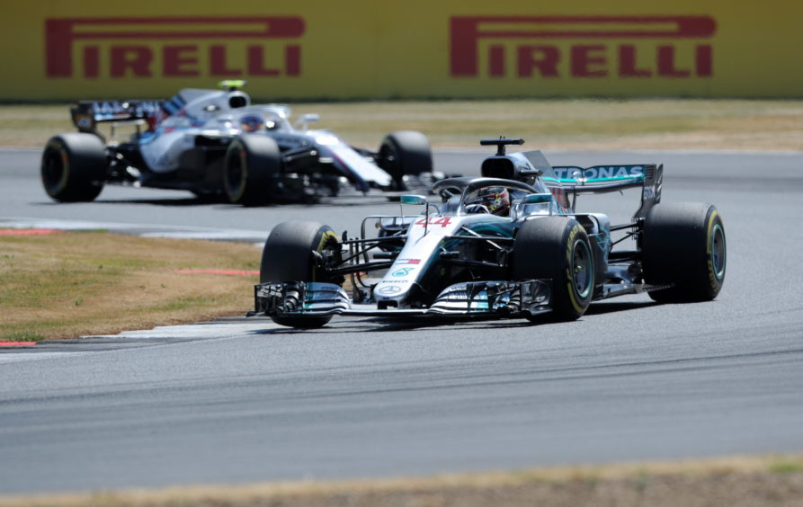 Mercedes' Lewis Hamilton.