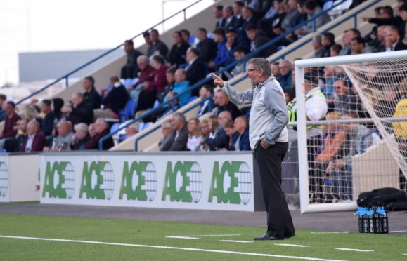 Hearts manager Craig Levein at the Balmoral Stadium Picture by Darrell Benns