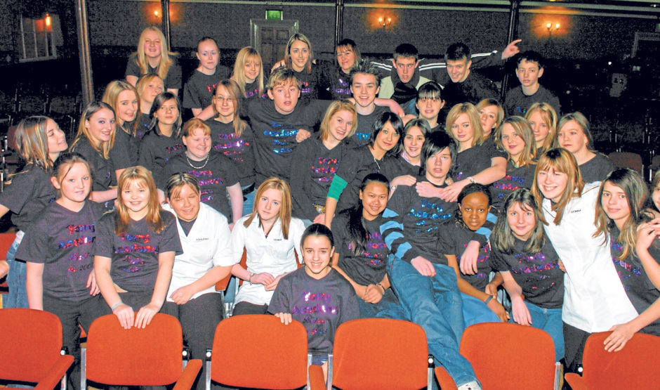 Global Rock Challenge rehearsals at the Music Hall in 2005