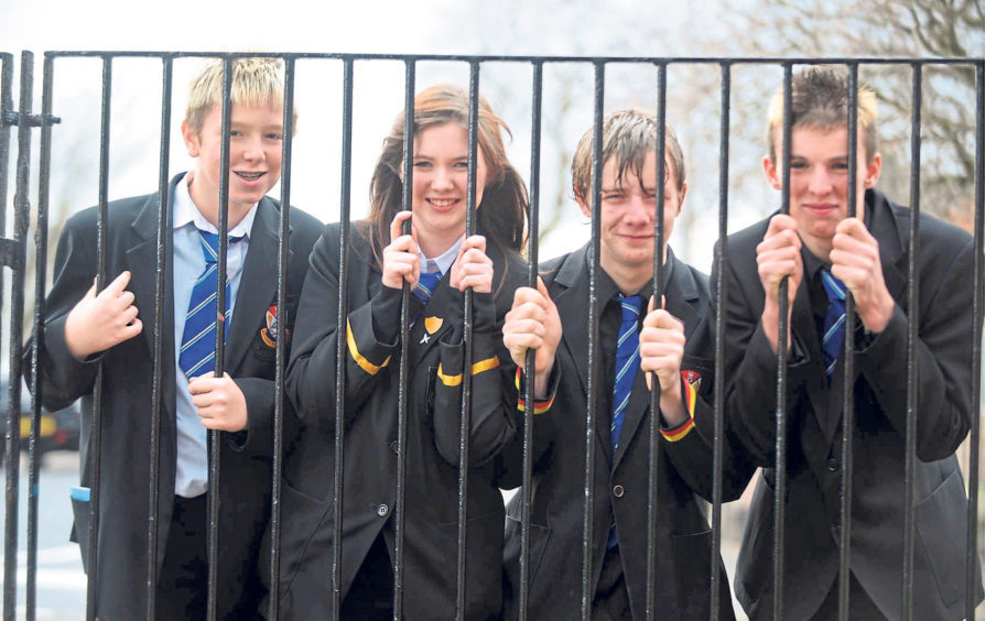 From left, Bradley Weston, Laura Simpson, Mark Sweeney and Liam Donaldson pictured in 2011