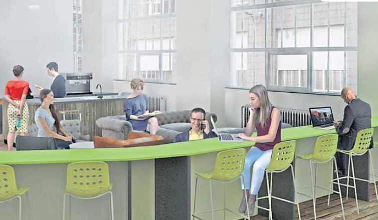 An artist's impression of how the digital hub could look
