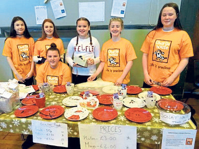 The fundraising Global Group at the 2017 Christmas fair