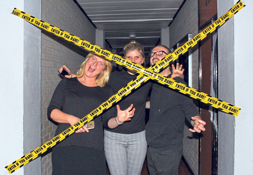 Staff set the scene for the spooky tours in October 2017