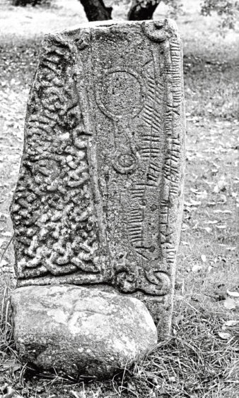 The Ogham Stone at Aboyne Castle