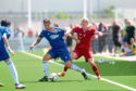 Cove's Daniel Park and Aberdeen's Gary Mackay-Steven. Picture by Darrell Benns