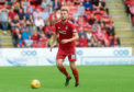 Mikey Devlin in action for Aberdeen