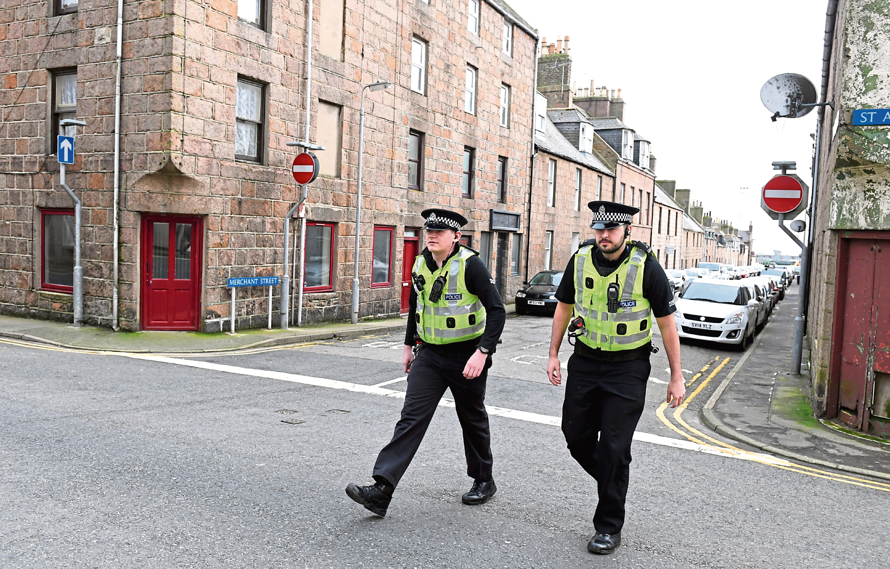 Police Scotland officers on an operation providing support to victims of cuckooing