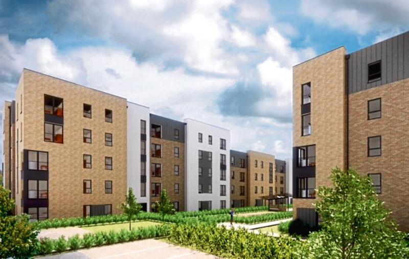 The development on Wellheads Road, Dyce