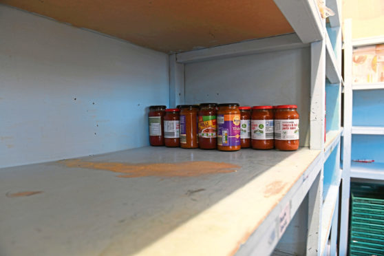Instant Neighbour food bank was left with bare shelves.