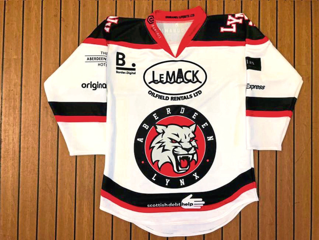 The Aberdeen Lynx home shirt for the 2018/19 season.
