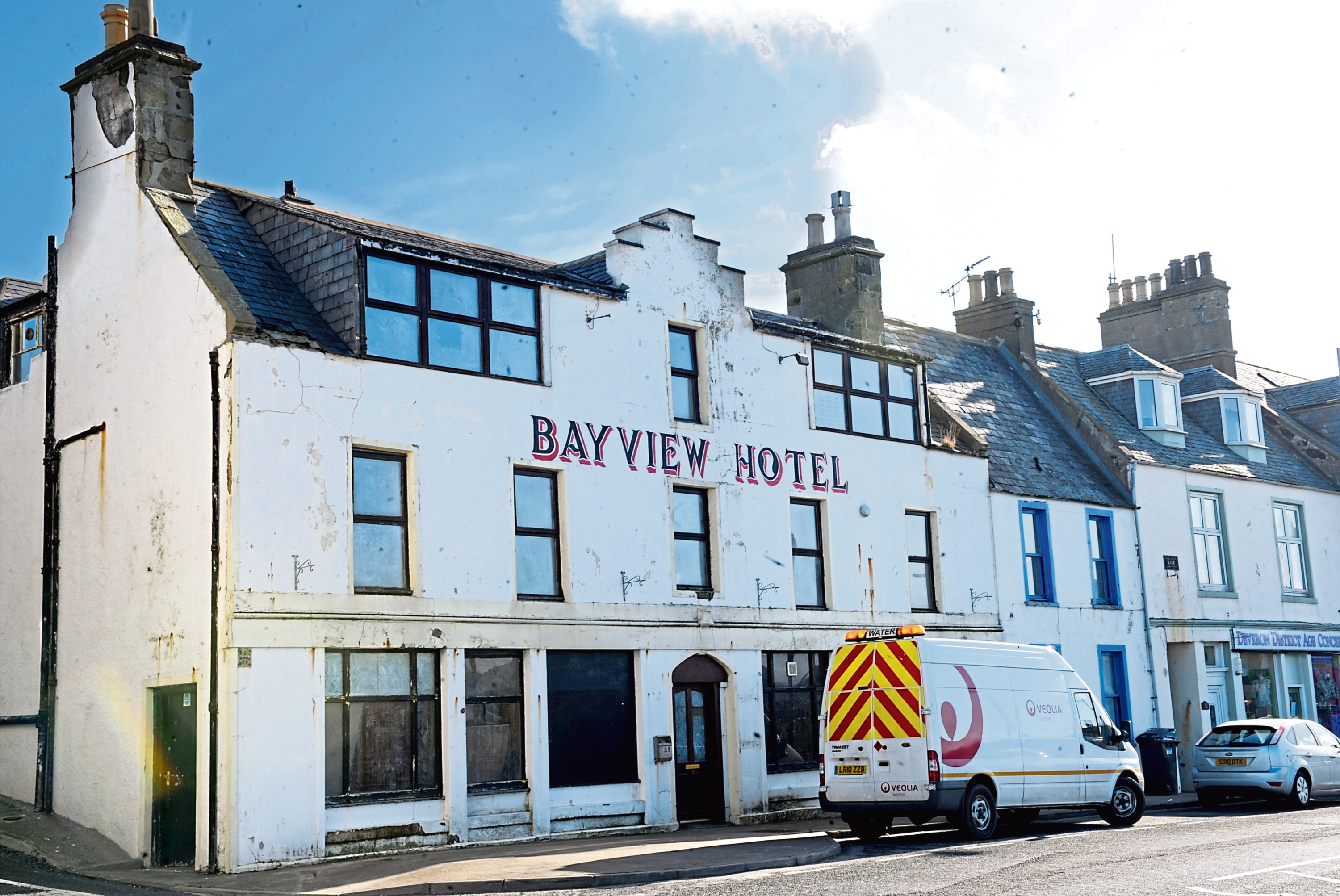 Pictured is the Bayview Hotel, MacDuff..  25/02/2014  Pictured by Darrell Benns