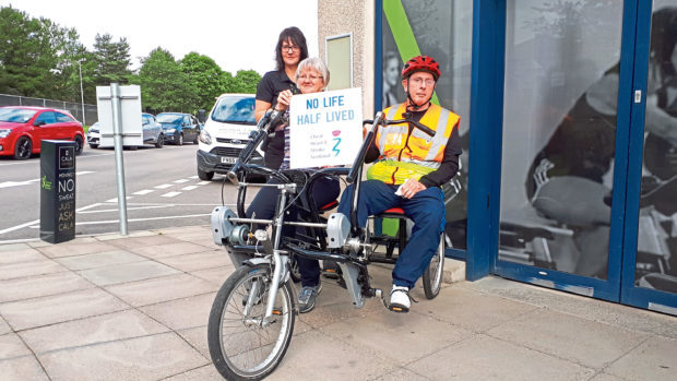 David Hartley completed his 10k outdoor cycling challenge for Chest Heart  and Stroke Scotland (CHSS) last week