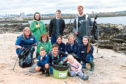 The team involved in the beach clean at Torry Battery