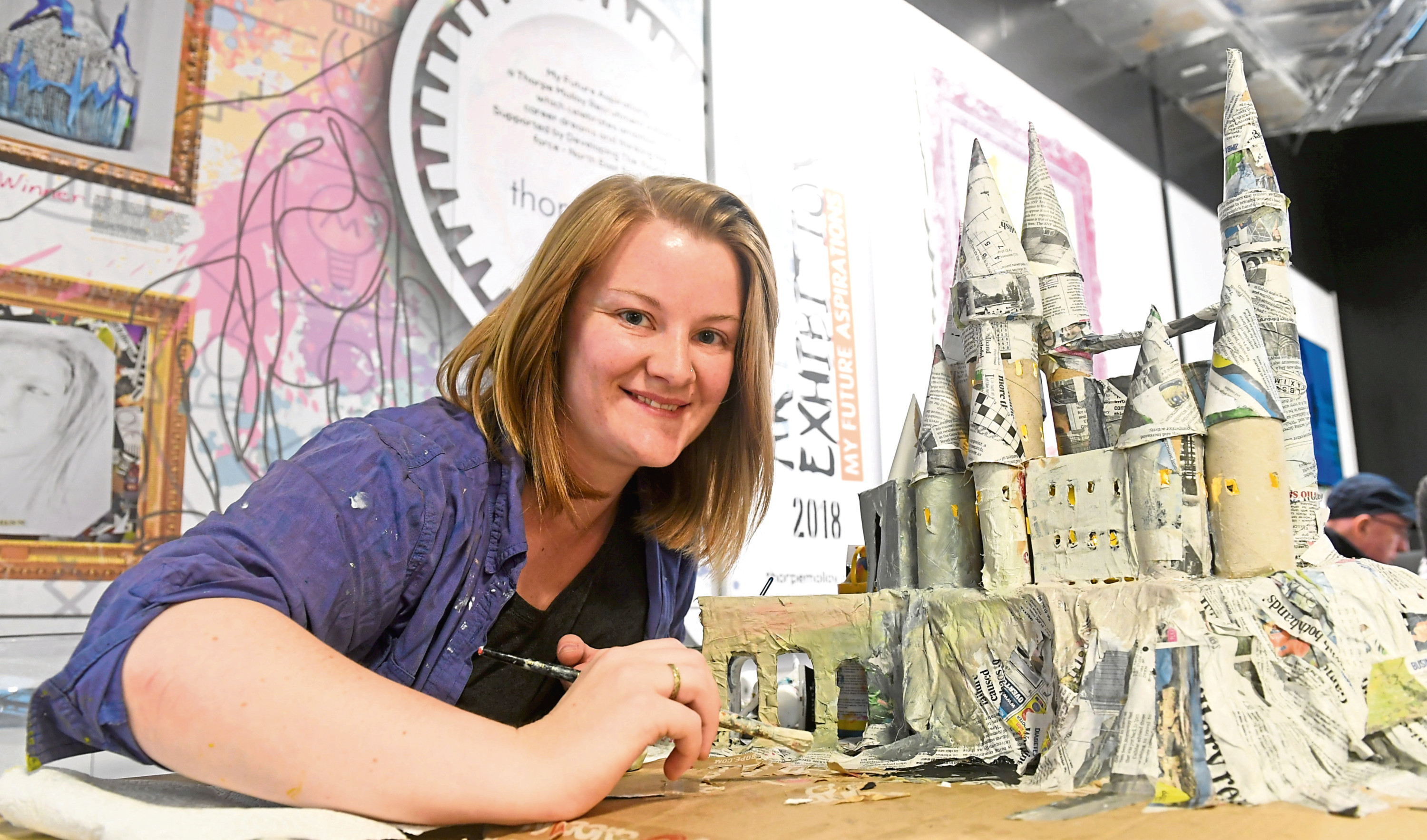 Catherine Redgate hosted a Harry Potter-themed artists workshop at Cafe Tempo