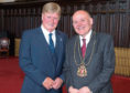 Andy Willox with Lord Provost Barney Crockett