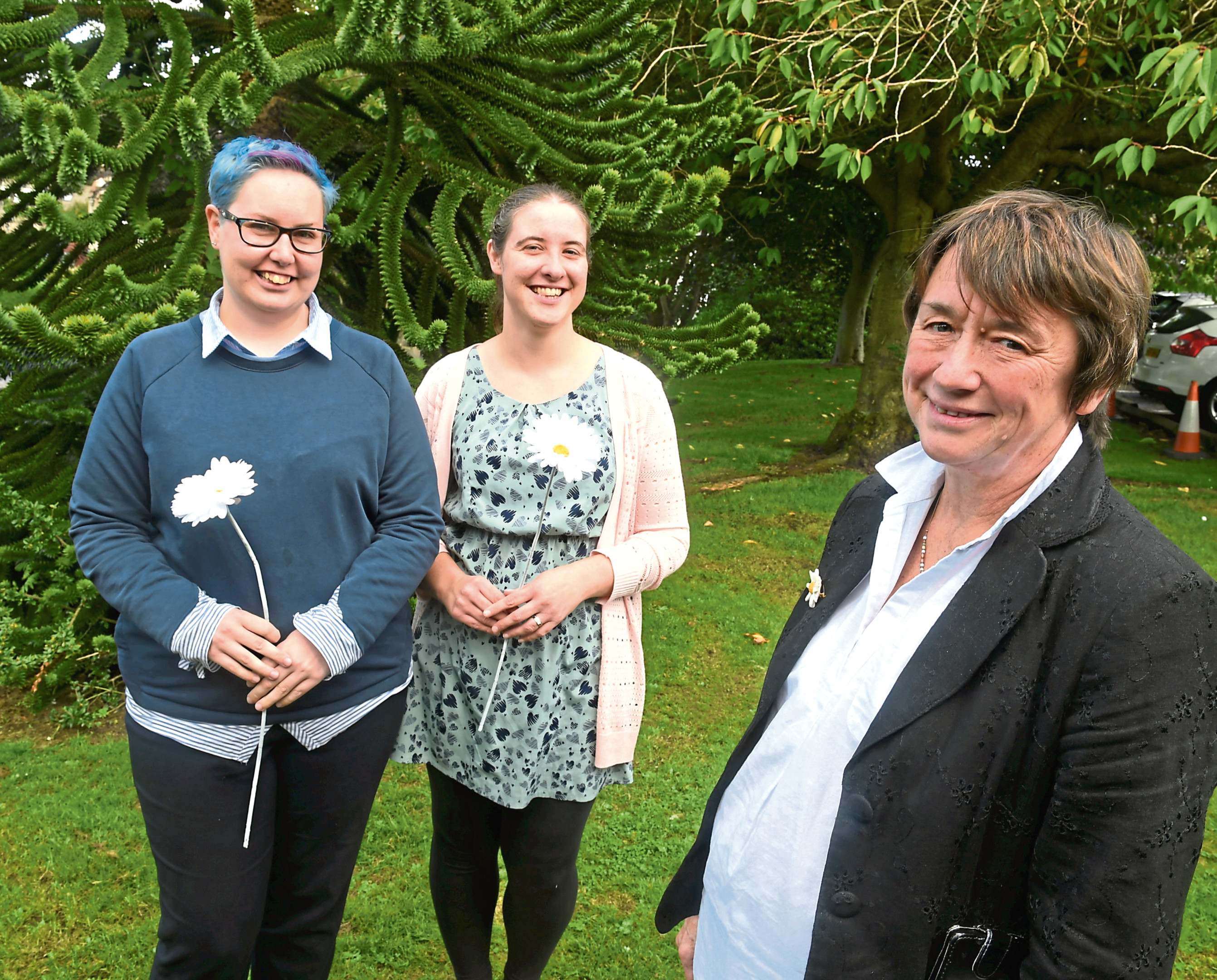 Sue Mahoney with from  Sandra Gray and Nicola Watson