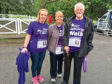 Patrick, with daughter Lesley, centre, and granddaughter Paula, walked last year in memory of his wife Bet