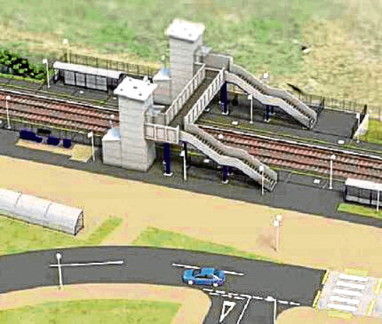 An artist's impression of how the new Kintore Railway Station could look