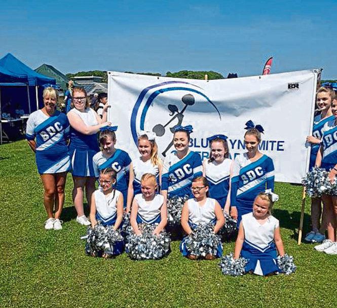 Blue Dynamite Cheerleaders