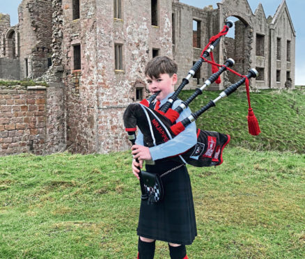 Josh will play one of the limited edition set of bagpipes