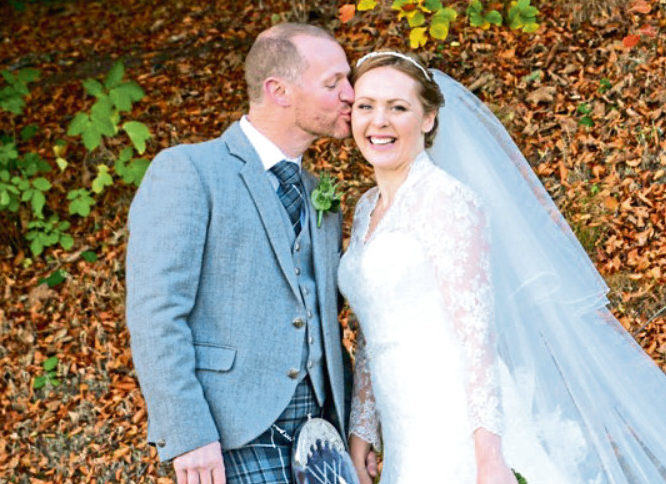 Happy couple Karla Fowlie and Keith Dickie