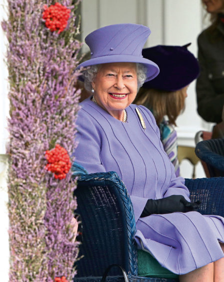 2016: The Queen finds plenty to smile about at the Princess Royal and Duke of Fife Memorial Park