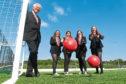 AFCCT director Duncan Skinner with Lochside pupils