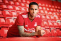 Aberdeen's Max Lowe, who is on-loan from Derby County.