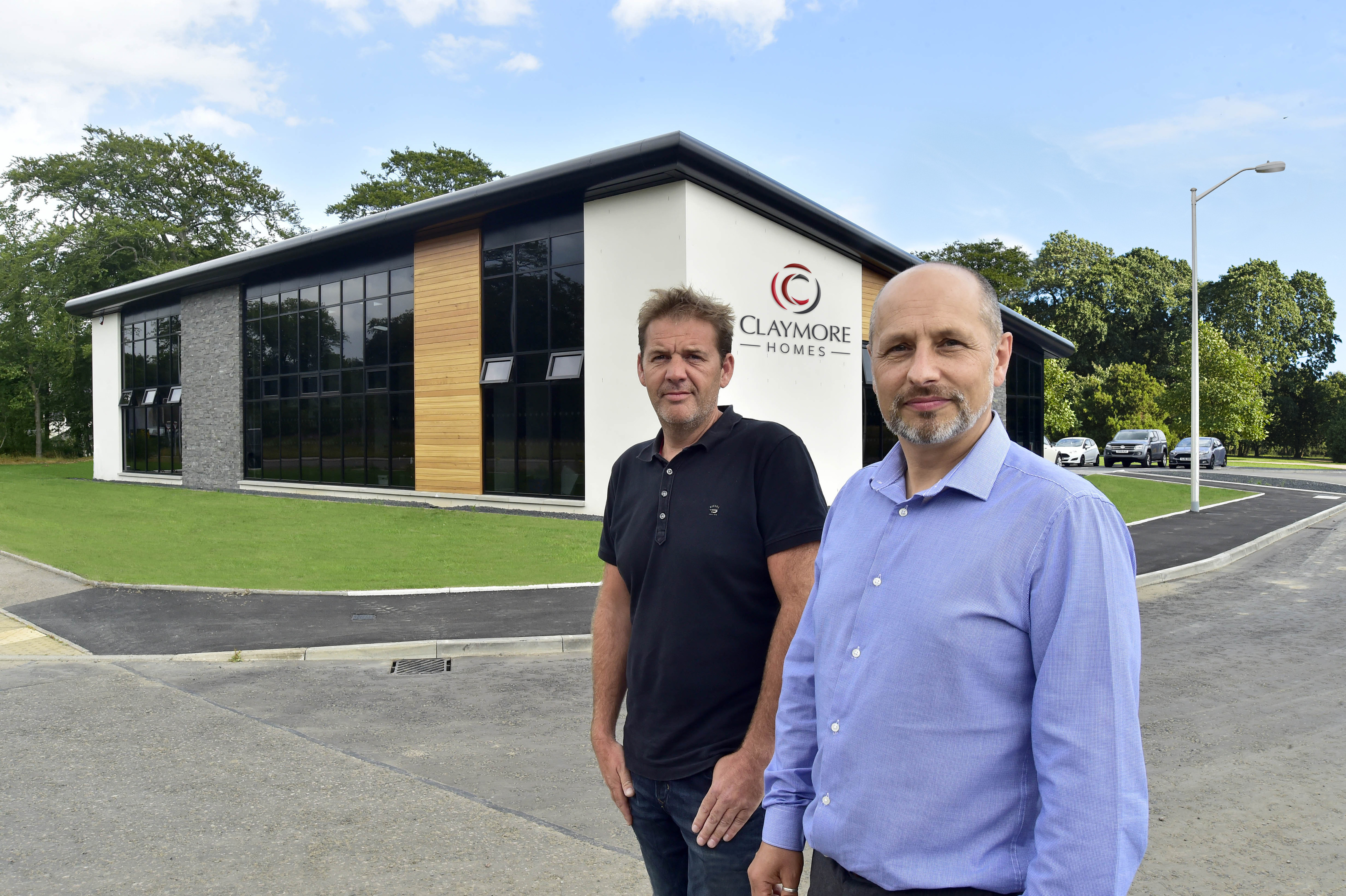 Claymore Homes directors John Smith, left, and Peter Cowie