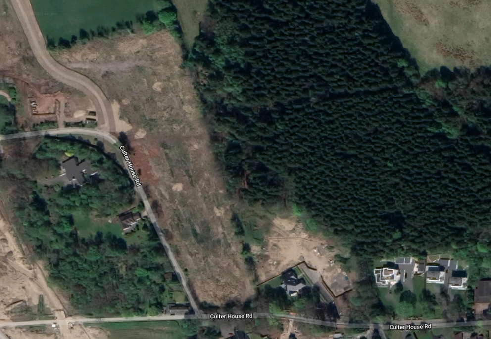 The homes are planned for the strip of land next to Culter House Road