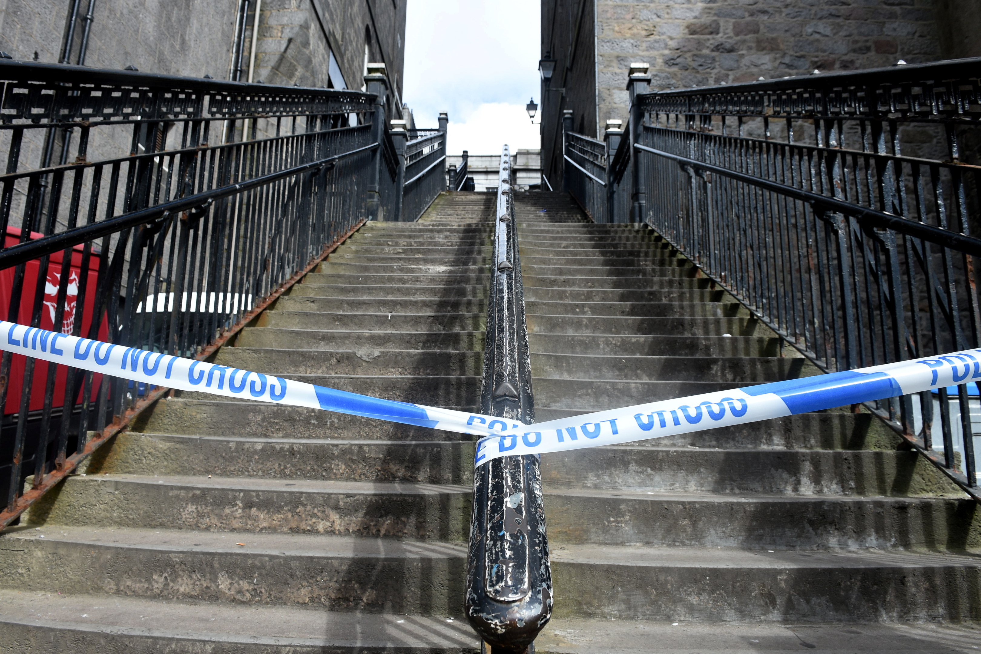A man fell on the stairs in June