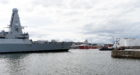 Royal Navy HMS Diamond returns to Aberdeen after three years.