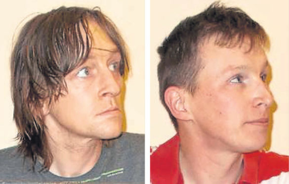 Slessor Buchan, left, and Scott Fowler have extensive criminal records