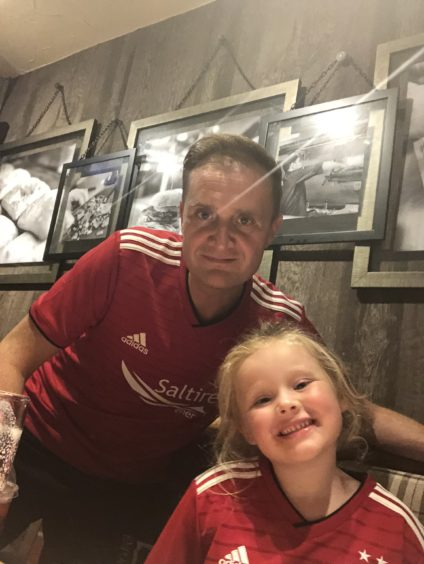 Five-year-old Kyra is ready for first away day