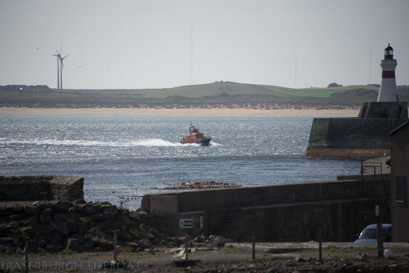 The Fraserburgh Lifeboat en route to the scene