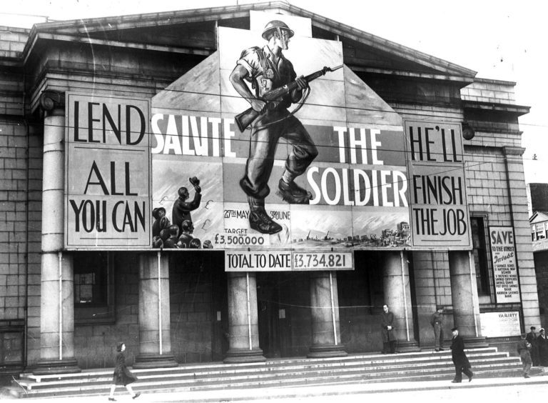 1944: Music Hall decorated for Salute The Soldier week