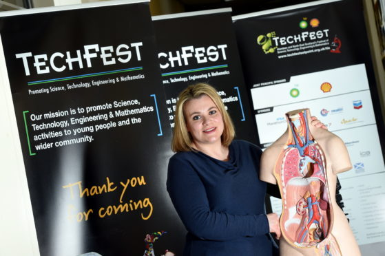 Managing director Sarah Chew at the TechFest offices in Foresterhill Health Centre.
