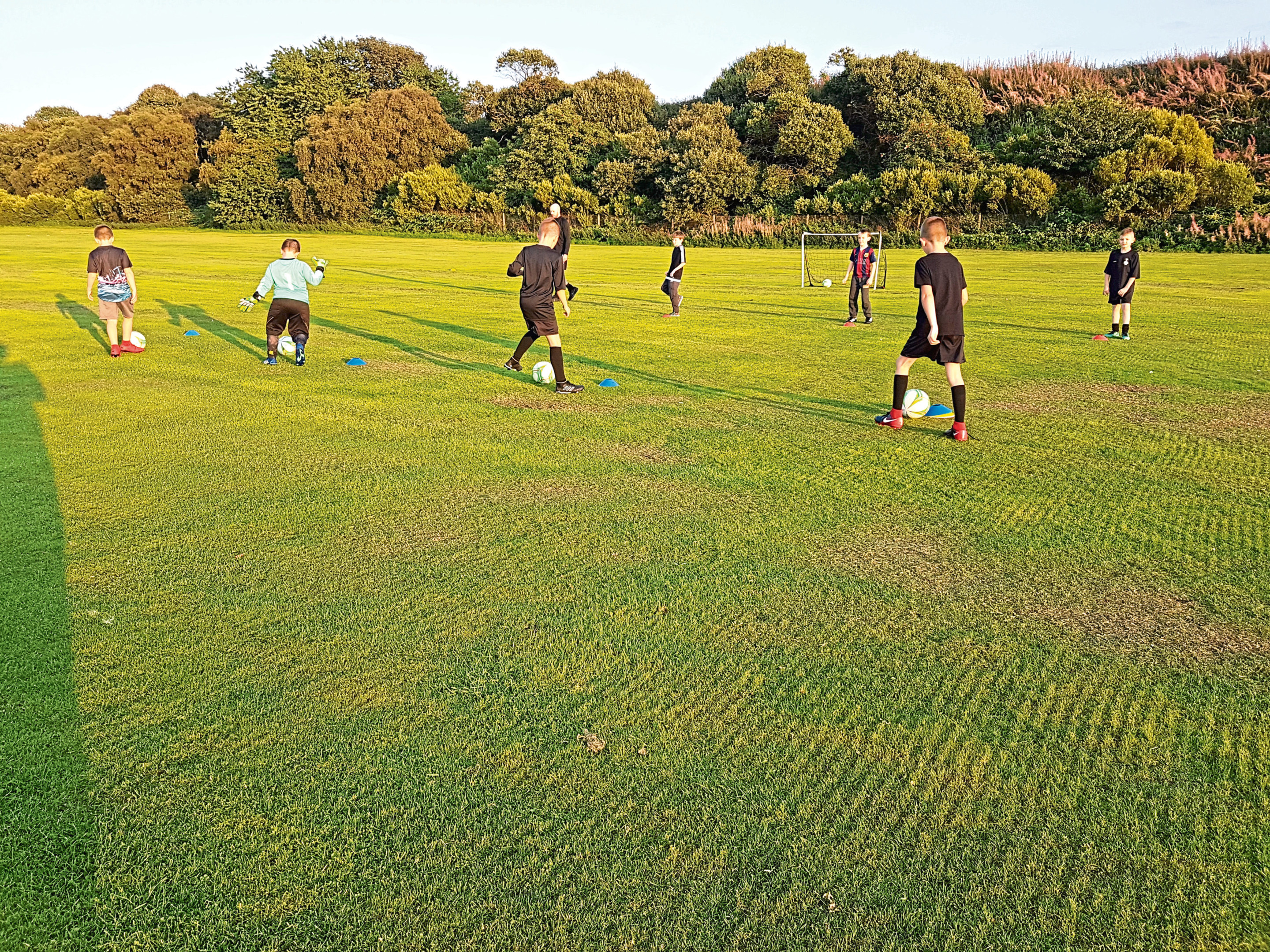Youngsters training at Dee FC