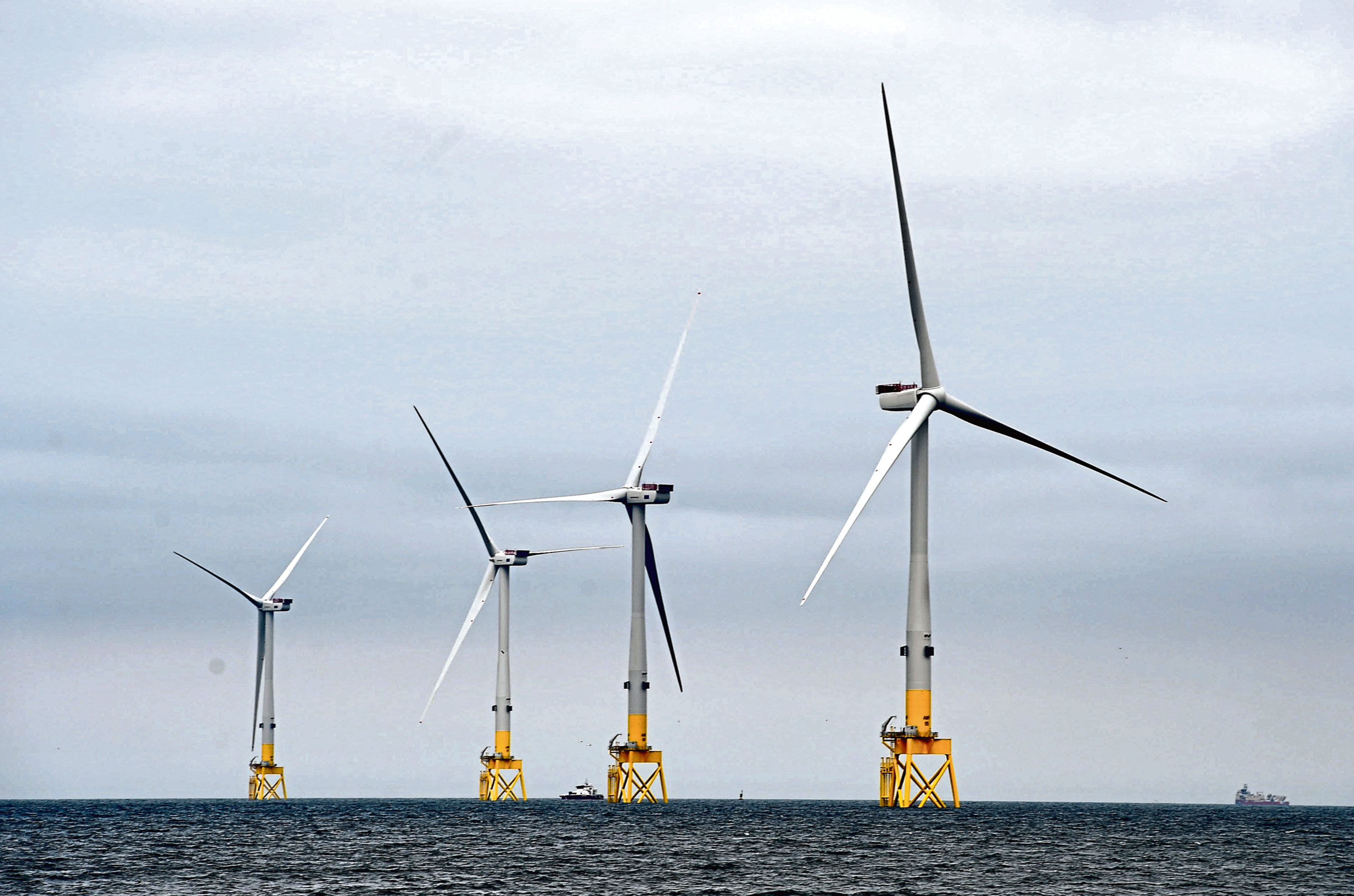 The Vattenfall turbines in Aberdeen bay