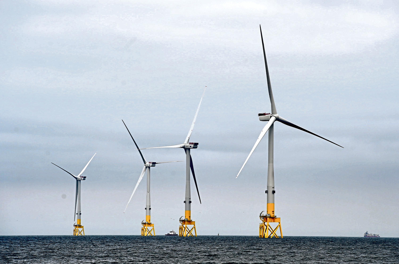 The Vattenfall turbines in Aberdeen bay