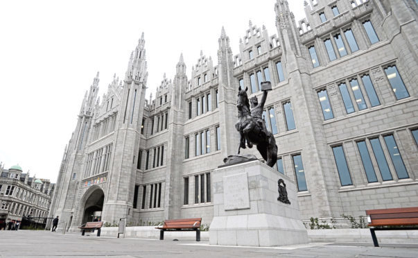 Marischal College, Aberdeen City Council's HQ.