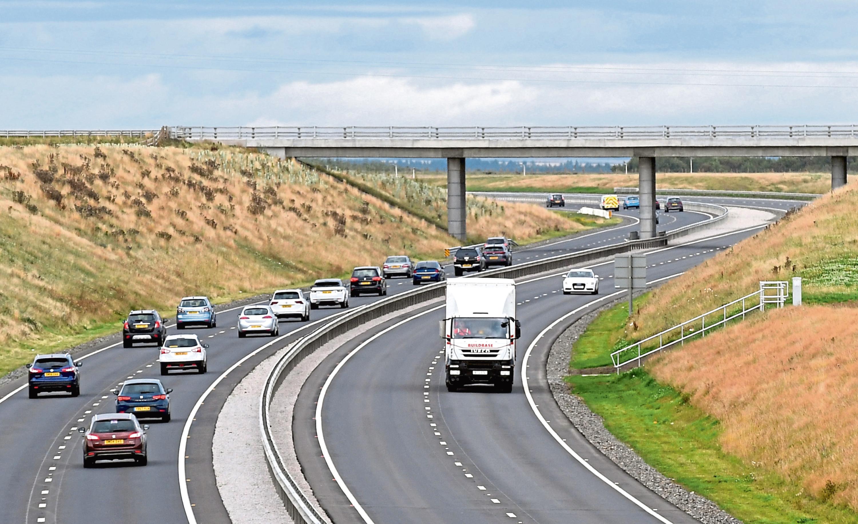 Motorists on the Aberdeen bypass