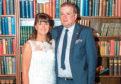 Elaine Baxter with her husband Craig Baxter at their wedding