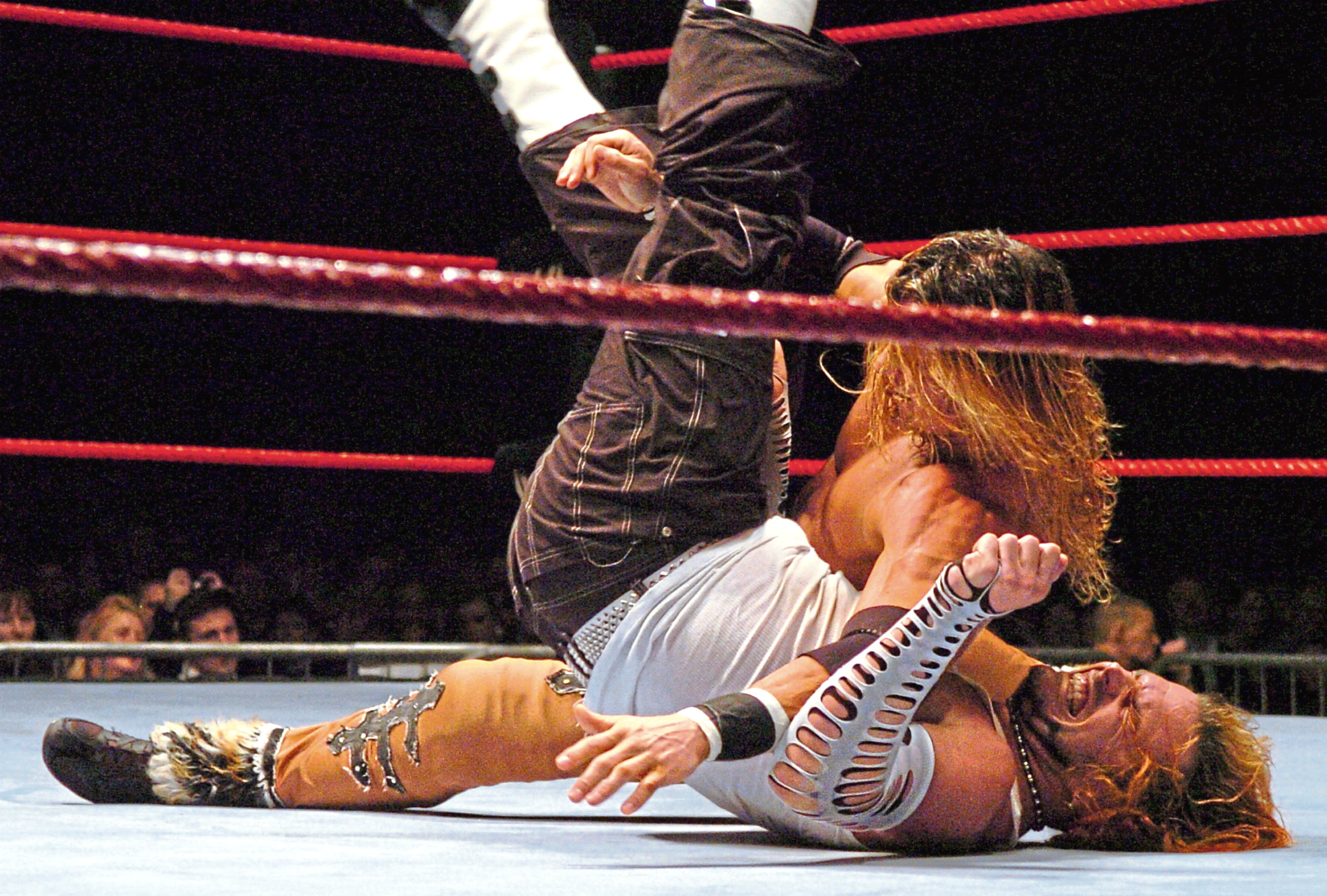 2006: WWE Wrestling at the AECC – Jeff Hardy, front, Johnny Nitro, back