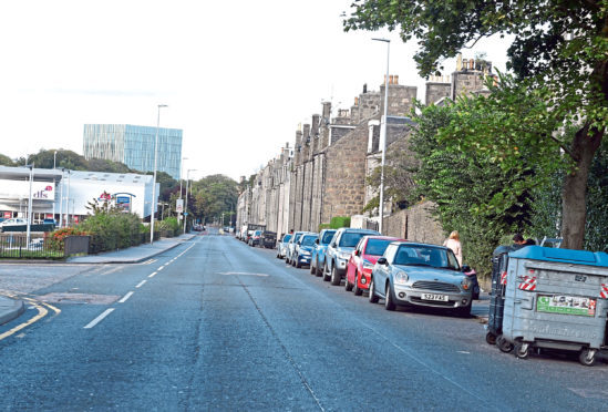 The incident took place on Aberdeen's Bedford Road